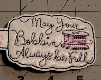 May Your Bobbin Always be Full key fob