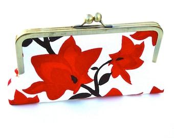 Kaya Clutch, clutch/Handbag/ bridesmaid gift Lined in Moss Dupioni Silk