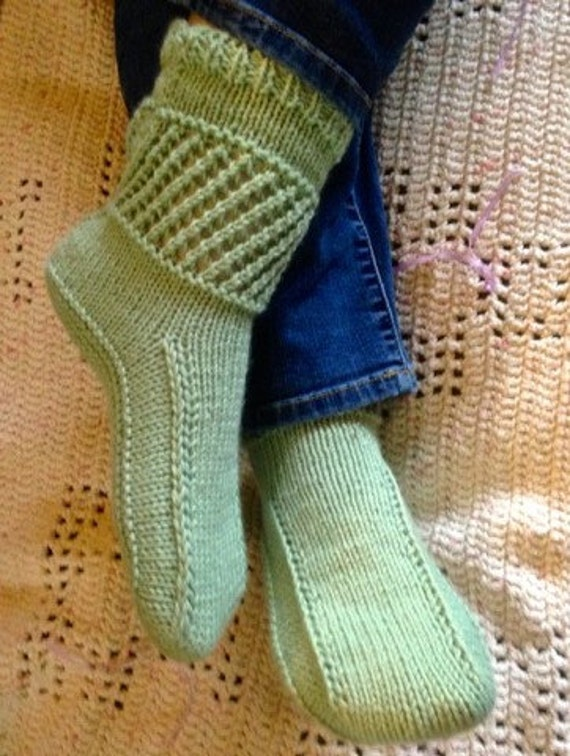 Ankle Warmer Boots Pattern Easy To Knit Slippers For Adults Etsy