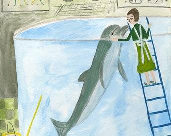 Let me hear you whisper. Original illustration by Vivienne Strauss.