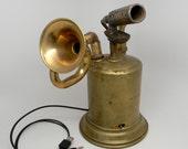 iPhone speaker. Steampunk amplifier . Steampunk sculpture . USB speaker.