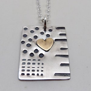 gold heart pendant keep it safe ...mixed metal heart pendant sterling silver heart pendant heart crown pendant gifts handmade jewelry