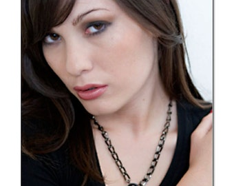 Lock Noir Collar Black Lock Daytime Collar Submissive BDSM Slave Collar
