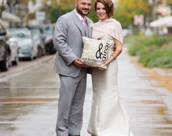 Personalized Wedding/Anniversary Pillow Cover