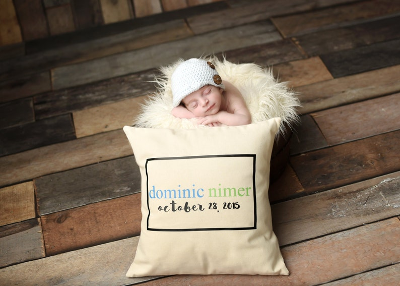 Personalized Birth Date  Pillow Cover image 0