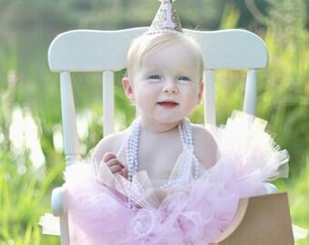 Neugeborenes Baby mein 1Geburtstag Rainbow Romper Tutu Tüll Rock Outfit Kleidung