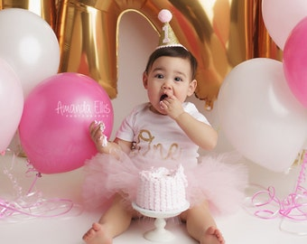 1st Birthday Outfit, Pink and Gold First Birthday Outfit, 1st Birthday Tutu, First Birthday Tutu, Cake Smash Outfit, Tutu Skirt, Tulle Skirt
