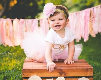 First Birthday Outfit Girl Tutu, Cake Smash Outfit Girl Tutu, 1st Birthday Outfit Tutu Skirt, Tulle Skirt, Newborn Tutu, 1st Birthday Tutu
