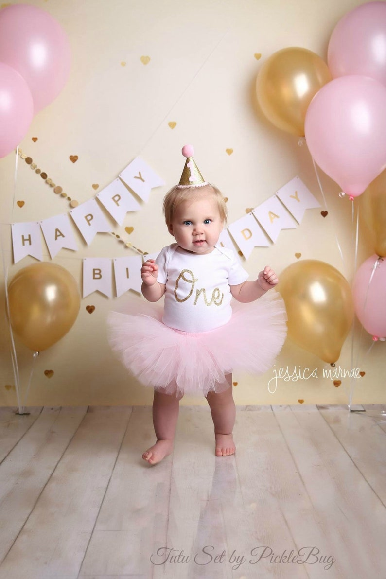 First Birthday Outfit Girl Cake Smash Pink And