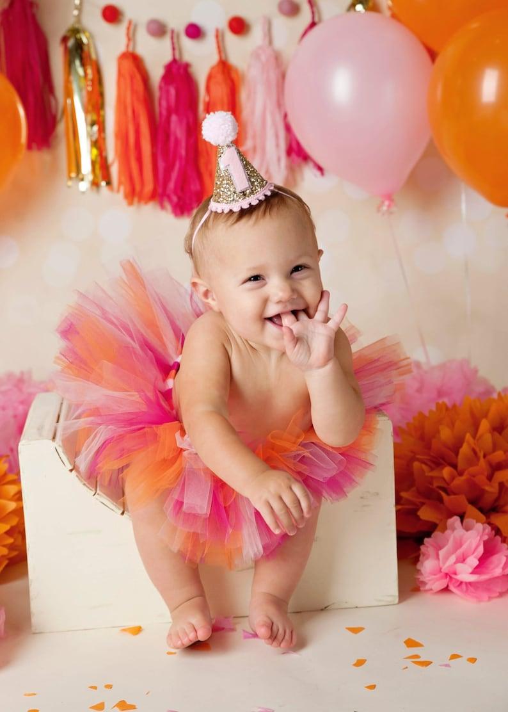 Cake Smash Outfit Girl 1st Birthday Tutu Pink Pumpkin First Birthday Outfit Girl First Birthday Tutu Skirt Set 1st Birthday Outfit Girl