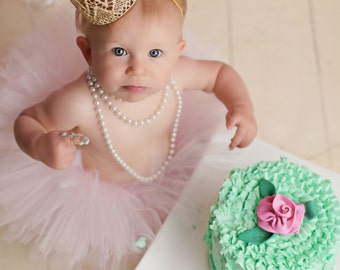 First Birthday Outfit Girl Tutu Skirt, Cake Smash Outfit Girl Tutu, 1st Birthday Outfit Tutu, First Birthday Tutu, Tulle Skirt, Newborn Tutu