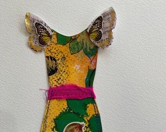 Yellow Paper Doll Dress