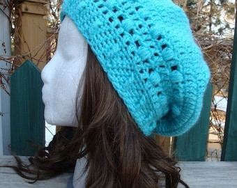 Celebrity Style Beret-Tam-Snood.....Turquoise