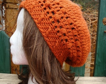 Celebrity Style Beret-Tam-Snood .....Burnt Orange
