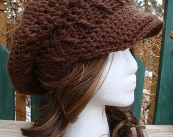 Celebrity Style Beret-Tam-Snood-Newsboy-Brimmed.....Chocolate Brown