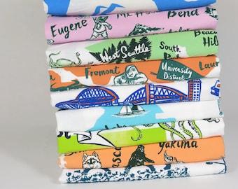 SALE Irregulars set of 4 flour sack tea towels