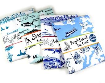 SALE Any Two Souvenir Tea Towels Seattle Washington U PICK