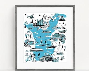 Seattle Lake Union Print
