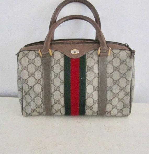 Vintage Authentic GUCCI Handbag w/ Gucci Dust Bag… - image 1
