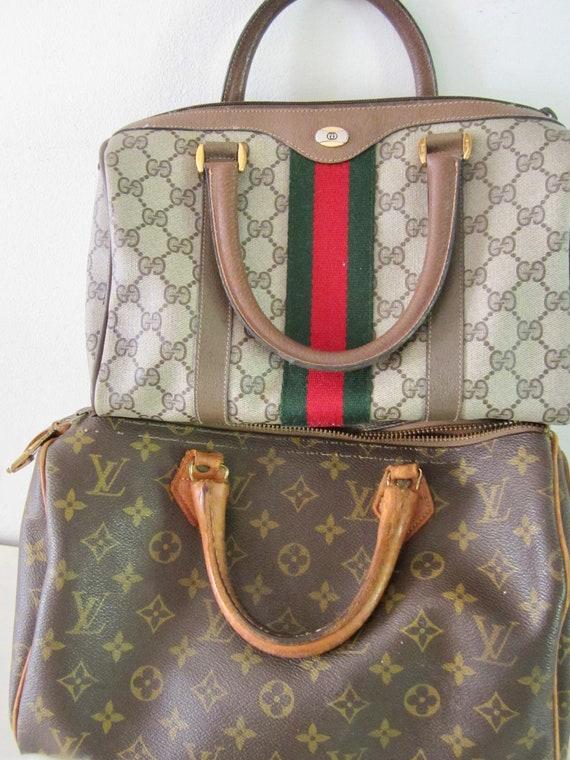 Vintage Authentic GUCCI Handbag w/ Gucci Dust Bag… - image 10