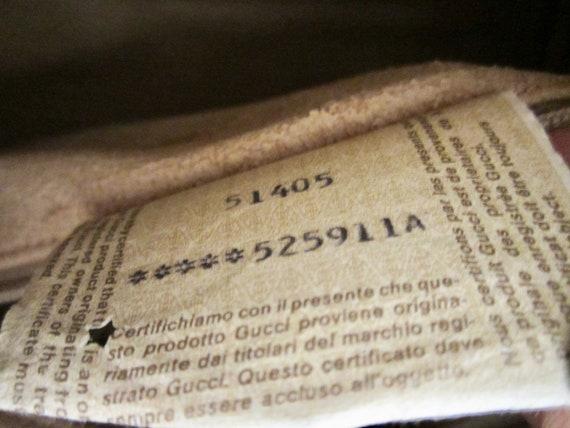 Vintage Authentic GUCCI Handbag w/ Gucci Dust Bag… - image 8