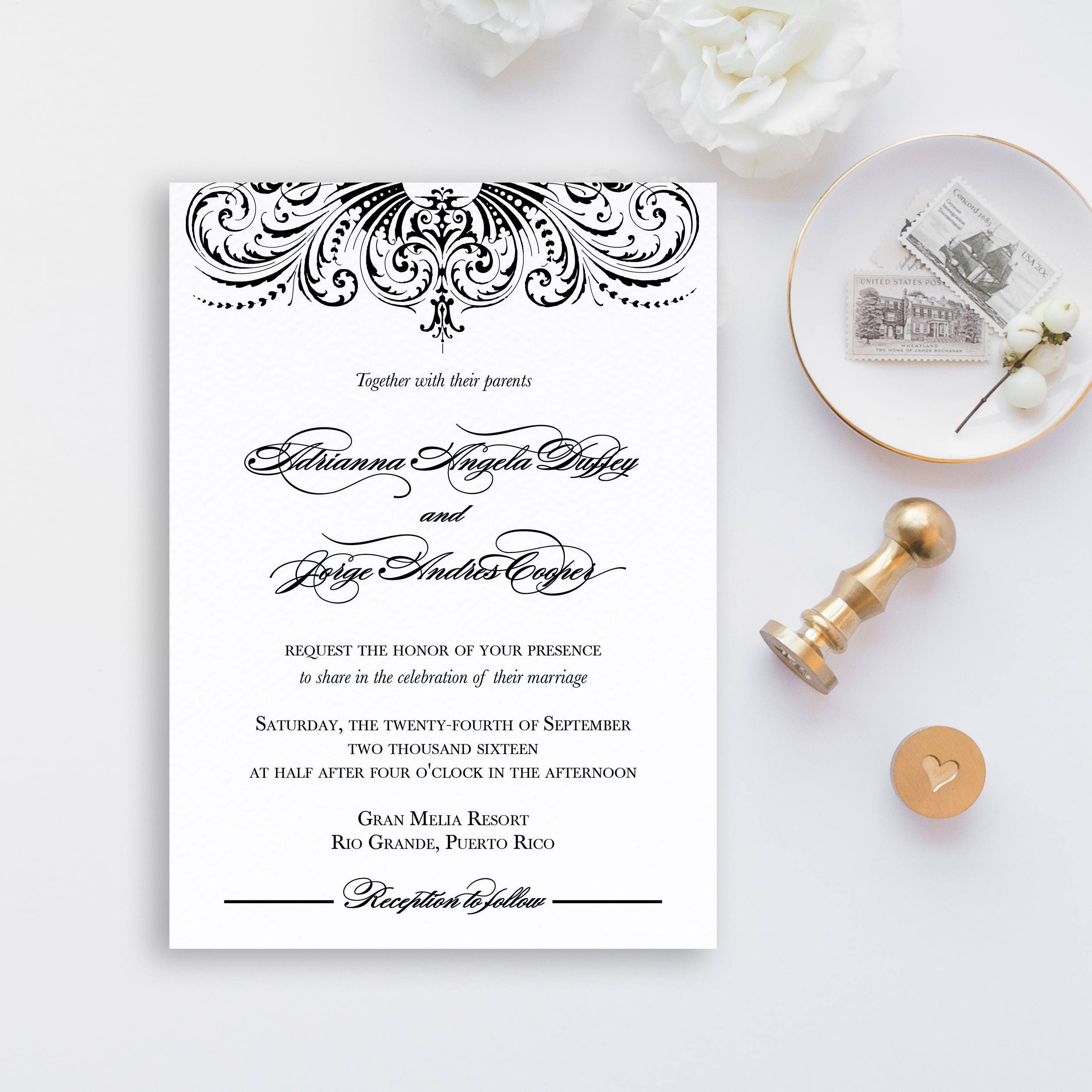 Great Gatsby Wedding Invites: Great Gatsby Wedding Invitation Old Hollywood Wedding