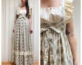 70s rare eyelet lace floral Gunne Sax dress