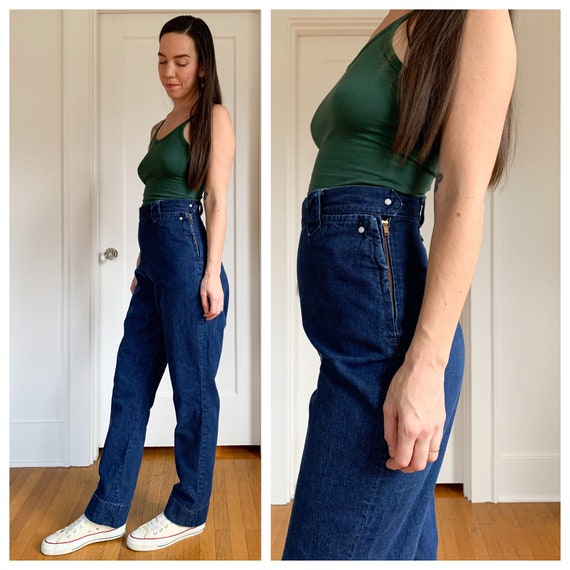 50s Levis side zip western wear denim jeans