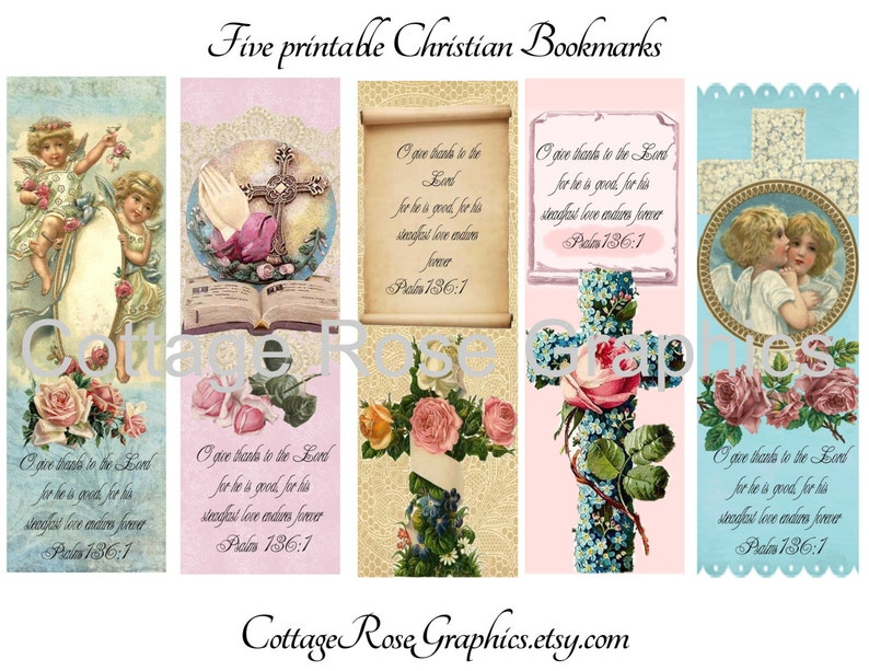 graphic relating to Free Printable Christian Bookmarks named 5 Typical design and style Christian Bookmarks Significant electronic obtain collage crimson Roses Cross Bible verse purchase 3 order a person cost-free ecs, svfteam