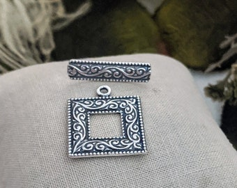 JBB Sterling Silver Toggle Clasp