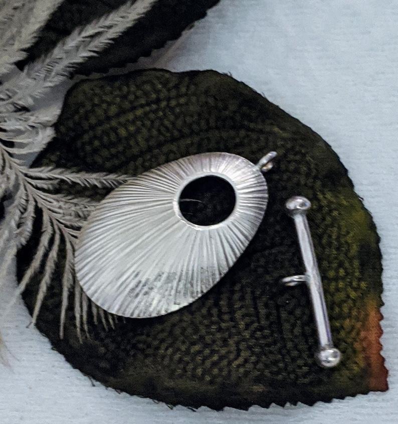 Shaina Artisan Crafted Fine Silver Toggle Clasp