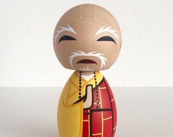 Shaolin Temple Kung Fu Monk kokeshi doll (The Abbot)