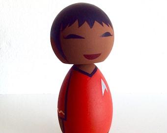 Star Trek inspired Lt. Uhura kokeshi doll