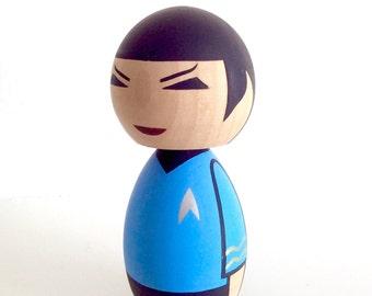 Star Trek inspired Mr. Spock Kokeshi doll