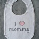 I Love Mommy Bib I Love Daddy Bib Girl Bib Boy Bib Gender Neutral Bib Custom Colors Baby Shower Gift