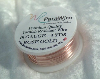 wir0096 28 gauge ROSE GOLD Craft Wire Tarnish Resistant wire wrapping