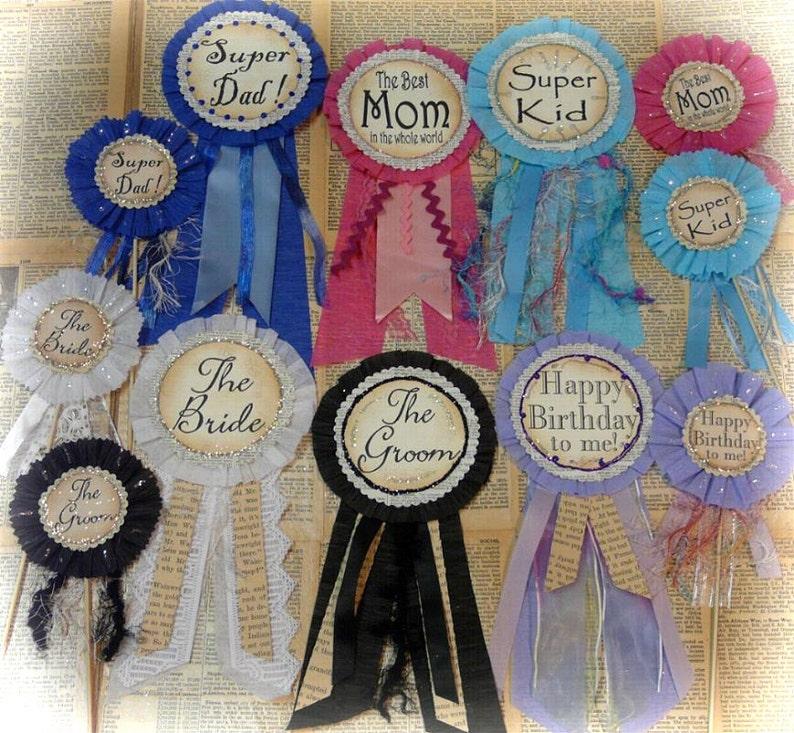 Mom Dad wedding Pins Badges Pattern - pdf jewelry Kid Cake Poke ribbon