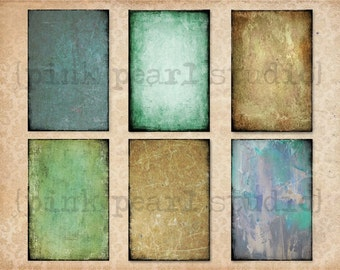 Set of 6 GrUnGY AGeD BaCKGRouND PaPeRs ViNTaGe aNTiQUe DiGiTaL CoLLaGe sHeeT aLTeReD HaNg TaGs BooK JouRNaL SCRaPBooKiNg SuPPLieS