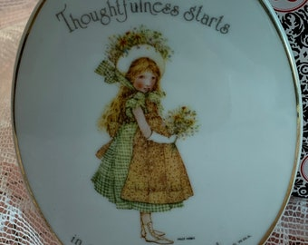vintage holly hobbie style2 plaques-lovefaith