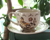 Staffordshire Old Granite by Johnson Bros England quot Sun Up quot Cup and Saucer