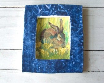 Handmade Vintage Pottery Picture Frame