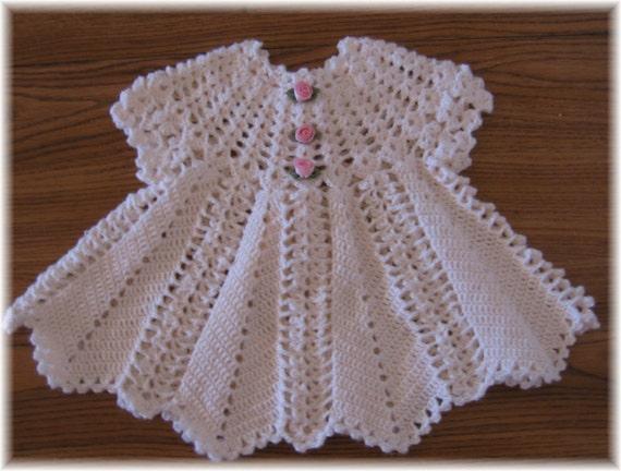 Crochet Pattern For Baby Dress Apple Blossom Baby Girl Etsy