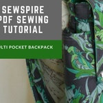 SUMMER SALE PDF Sew How To Tutorial Sewing Backpack w Adjustable Straps Adult Full Size Padded iPad Pocket Travel Bag Womens