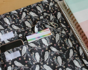 Desktop Travel Note Book Spiral Notebook File Folder Organizer Folder Passion Planner Cover Made to Order in Your Choice of Fabric