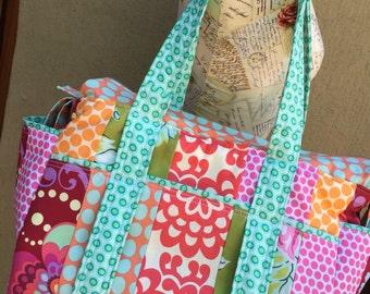 Watermelon Wishes Patchwork Stylish Modern Diaper Bag