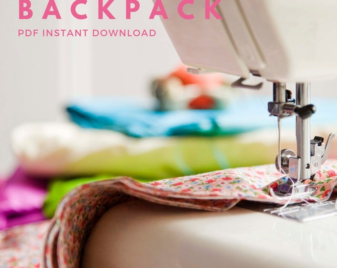 PDF Sew How To Tutorial Sewing Backpack w Adjustable Straps Adult Full Size Padded iPad Pocket Travel Bag Womens