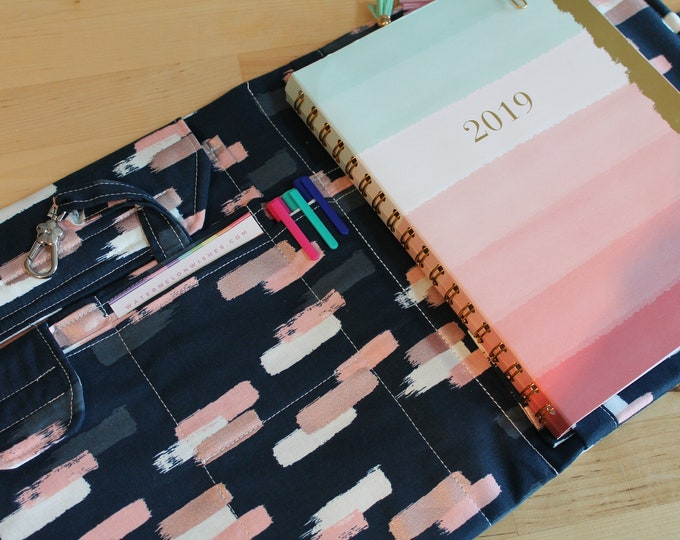 Desktop Travel Note Planner Book Spiral Notebook File Folder Organizer Folder Made to Order to fit your Planner