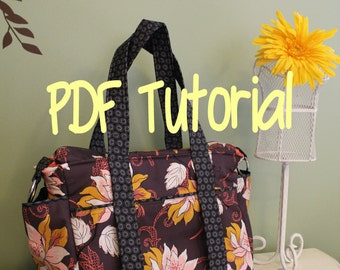 PDF Tutorial --- Watermelon Wishes ZipTop Diaper Bag --- How to sew instructions