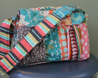 Custom Made to Order Medium Padded Modern Patchwork Camera Bag by Watermelon Wishes