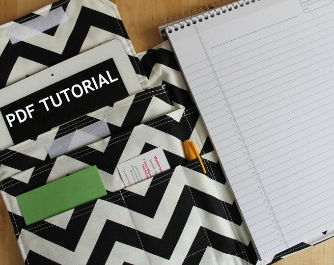 "PDF Tutorial --- Watermelon Wishes Portfolio Pad Organizer 8.5"" x 11"" Notebook"